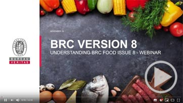 BRC FOOD VERSION 8 - WEBINAR